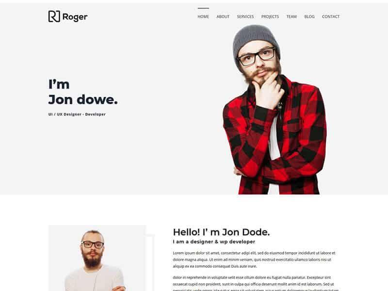 Roger - Personal Portfolio HTML Template