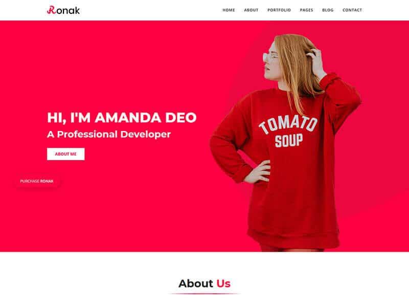 Ronok - Portfolio HTML Template