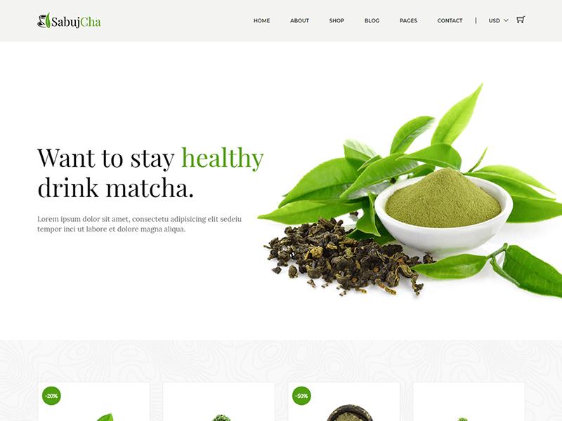 Sabujcha - Tea Store HTML Template