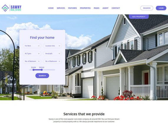 Swany - Real Estate Bootstrap Template