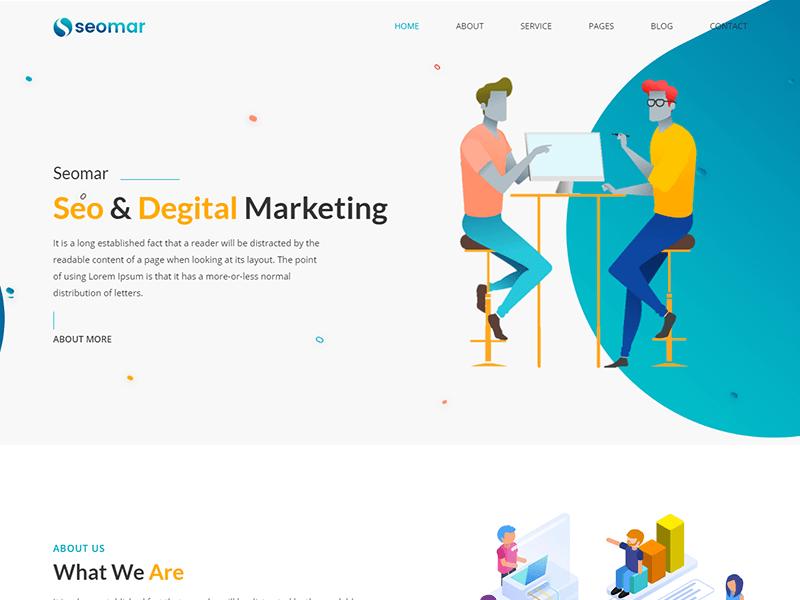 Seomar - SEO Digital Marketing HTML Template