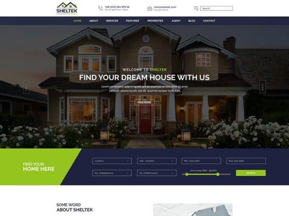 Sheltek - Real Estate HTML Template + RTL