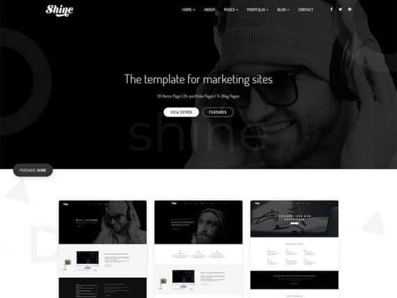 Shine - Creative Bootstrap Template