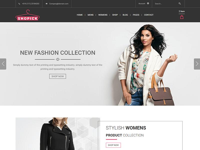 Shopick - Fashion Store HTML Template