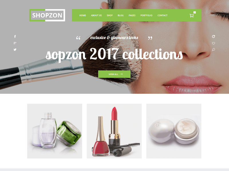 Shopzon - Cosmetic Store HTML Template