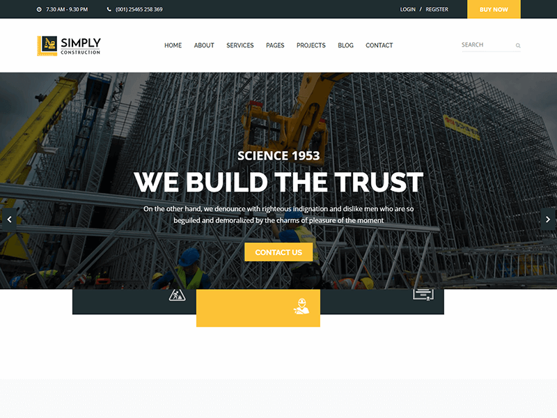 Simply - Construction HTML5 Template