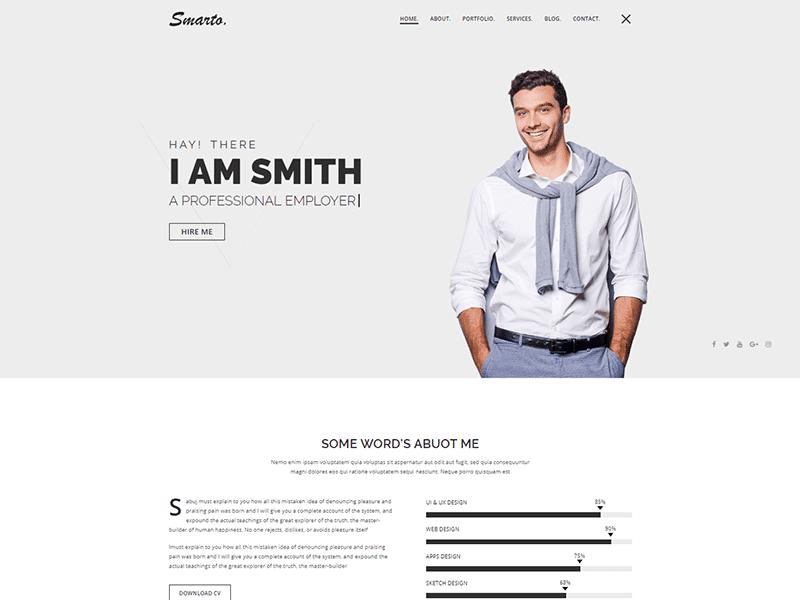 Smarto - Personal Portfolio Template
