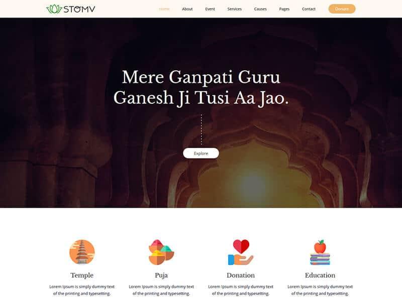 Stomv - Religious temple HTML Template
