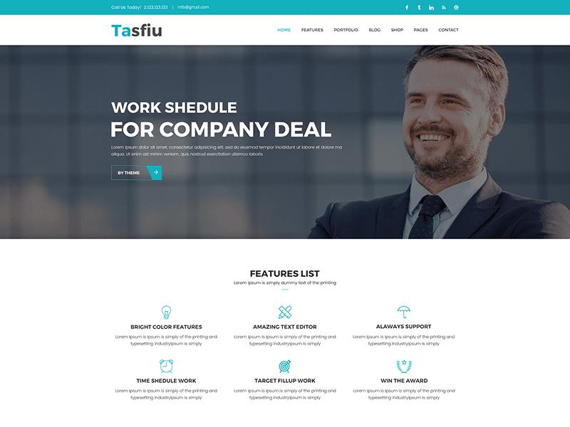 Tasfiu – Corporate Business HTML Template