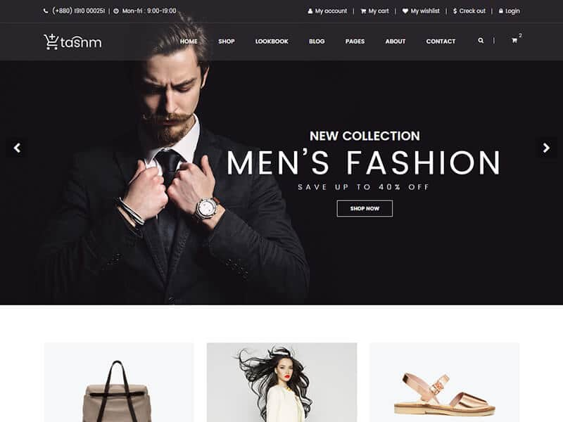 Fashion Store HTML Template - Tasnm