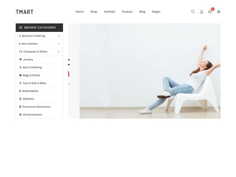 Outside - Minimal eCommerce HTML Template