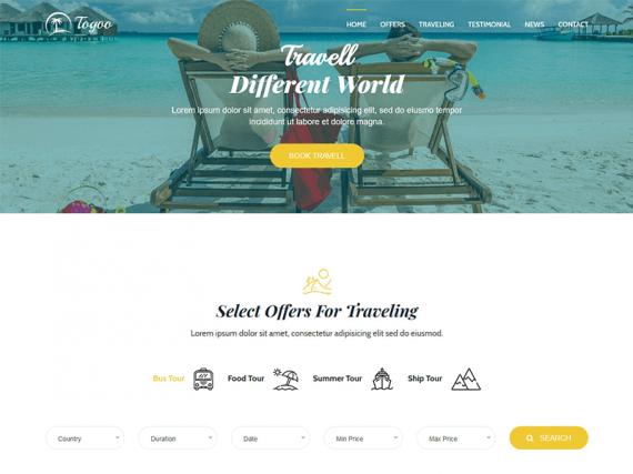 Togoo - Travel / Tour Landing Page Template