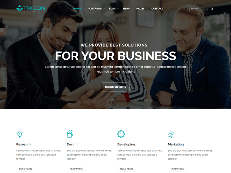 Tricon – Consulting Business HTML Template