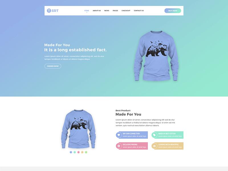 Tsrt - Single Product HTML Template