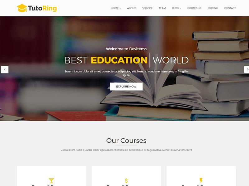 Tutoring – Education HTML Template
