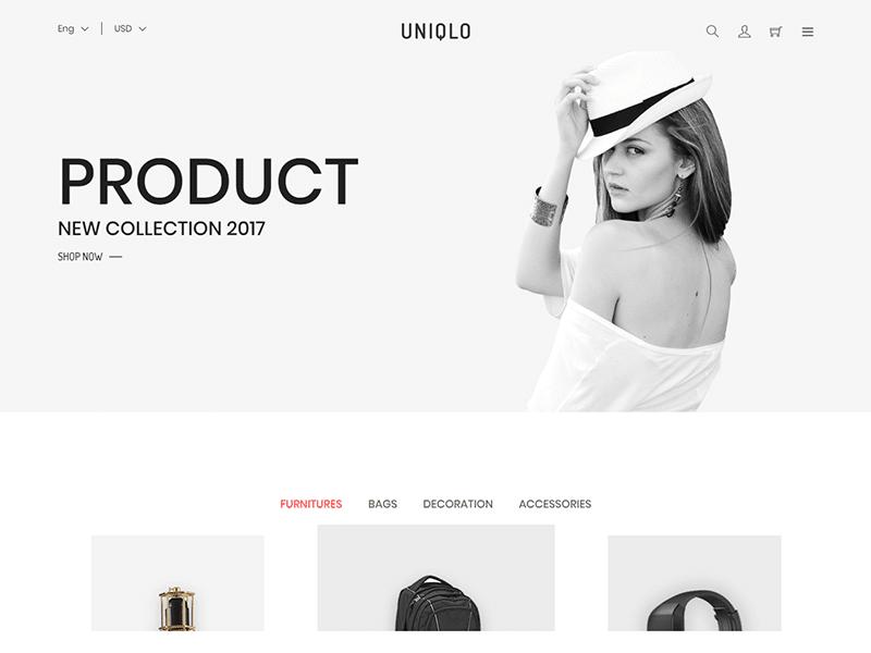 Uniqlo - Minimal HTML Template