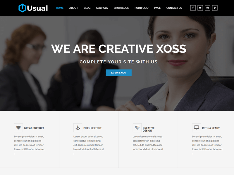 Usual - Corporate Business HTML5 Template