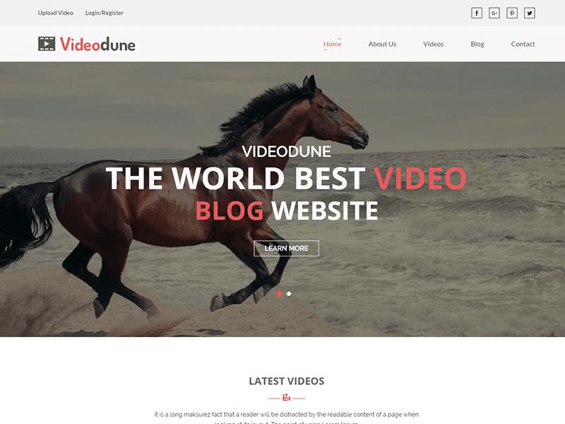 Videodune - Video Blog HTML Template