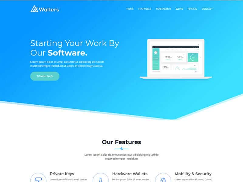 Walters - Software Business Landing Page Template