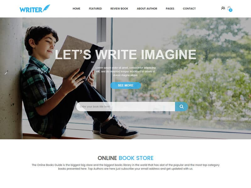Writer – eCommerce Bootstrap Template