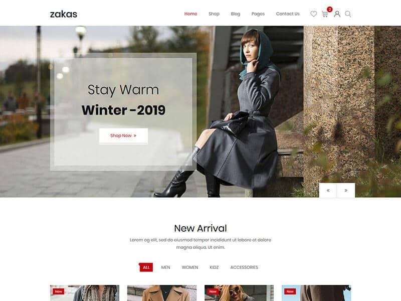 Zakas - Fashion HTML Template