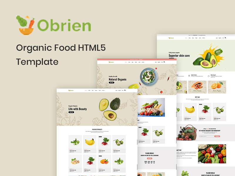 Obrien – Organic Food HTML5 Template