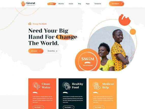 Givest Charity Bootstrap 5 HTML Template