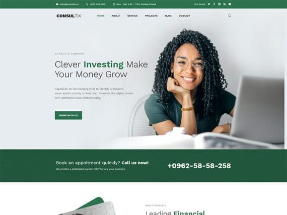 Consultix Investment Company Bootstrap 5 Template
