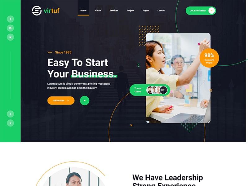 Virtuf Creative Agency Bootstrap 5 Template