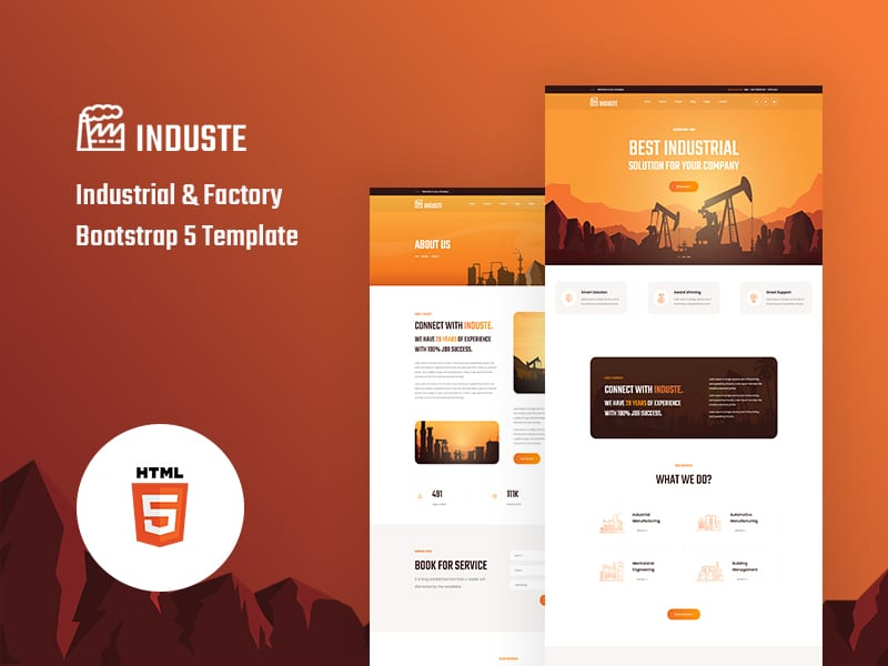 Induste - Industrial & Factory Bootstrap 5 Template